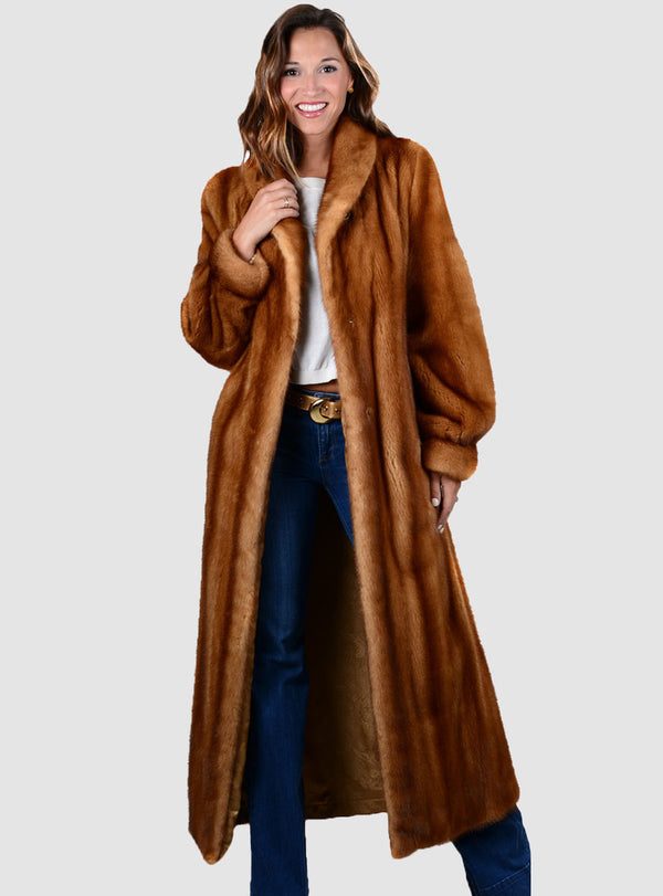 NAFA/SAGA SELECT Full Length Mink Fur Coat