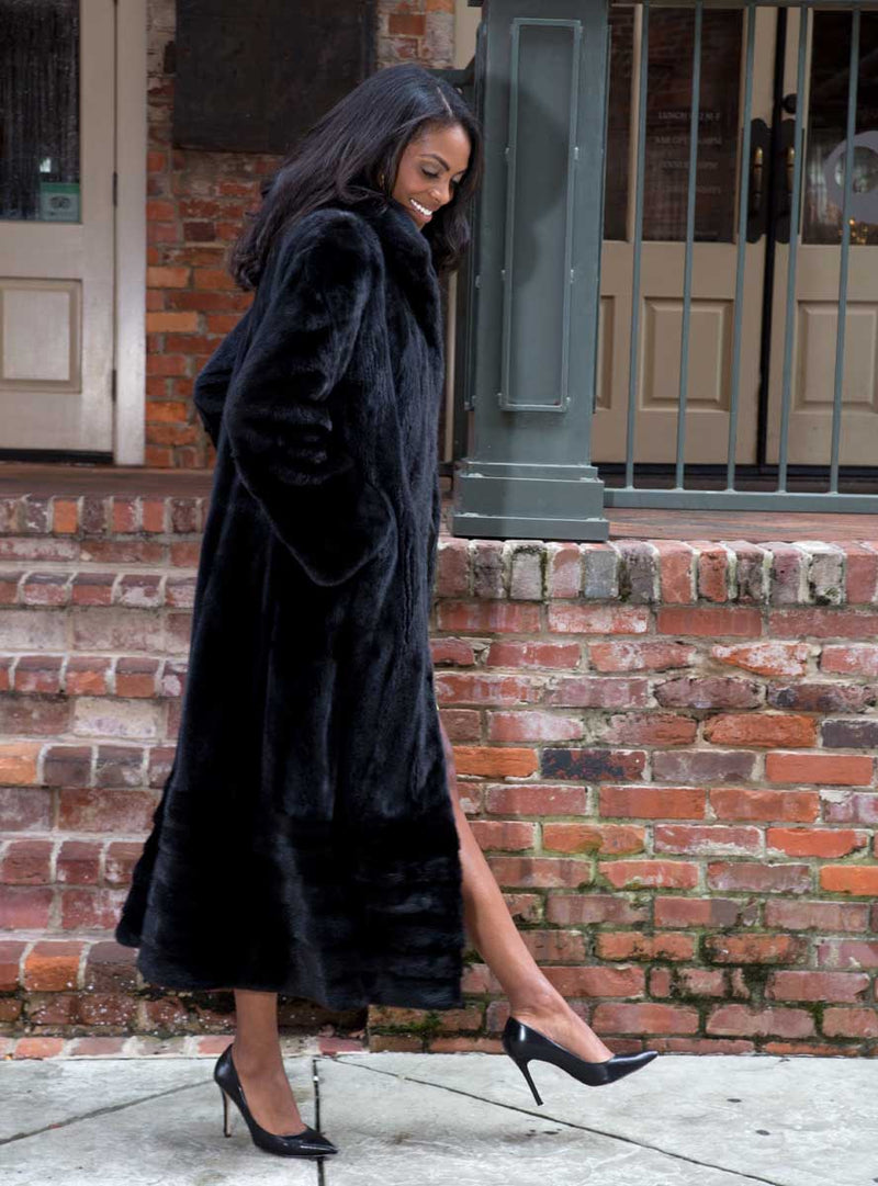 Full Length Mink Fur Swing Coat with Optional Cape
