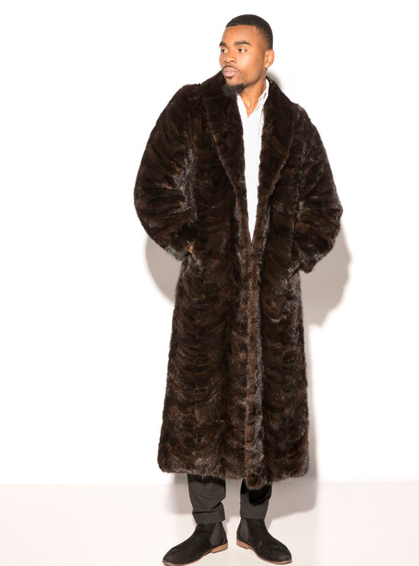 Men's Full Length Mink Fur Coat