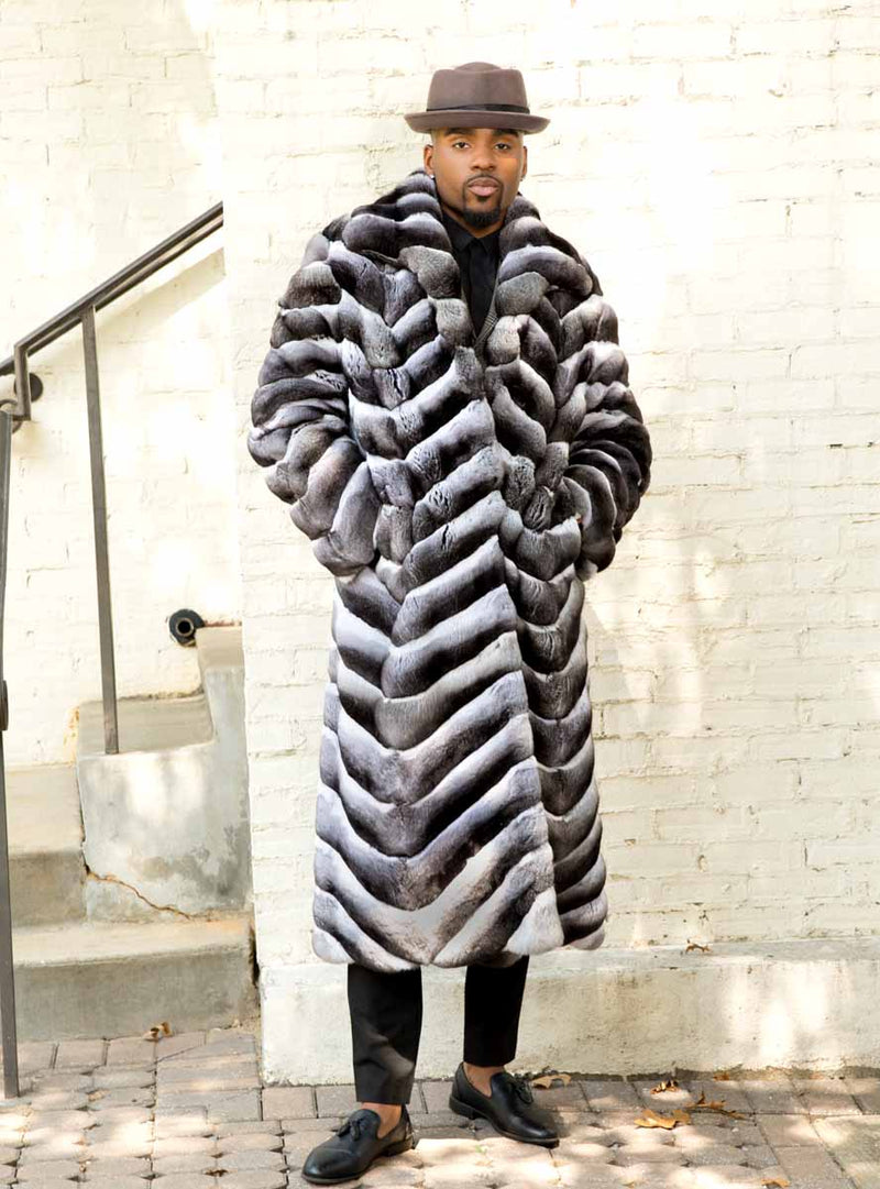 Men's Chinchilla Fur Coat - Made in the USA