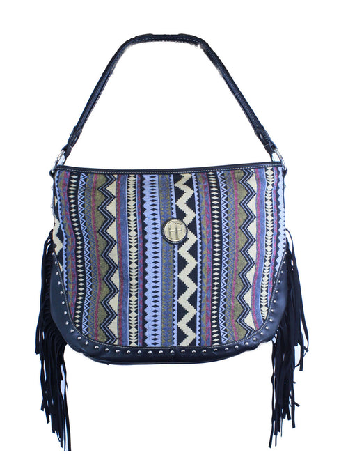 Aztec Print Purse with Tassels
