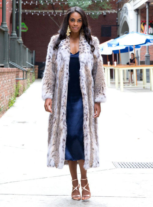 women's bobcat fur coat