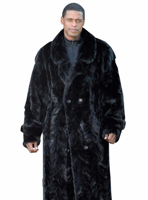 custom made men's mink fur coat