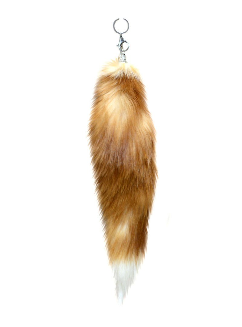 Fox Fur Tail Key Chain