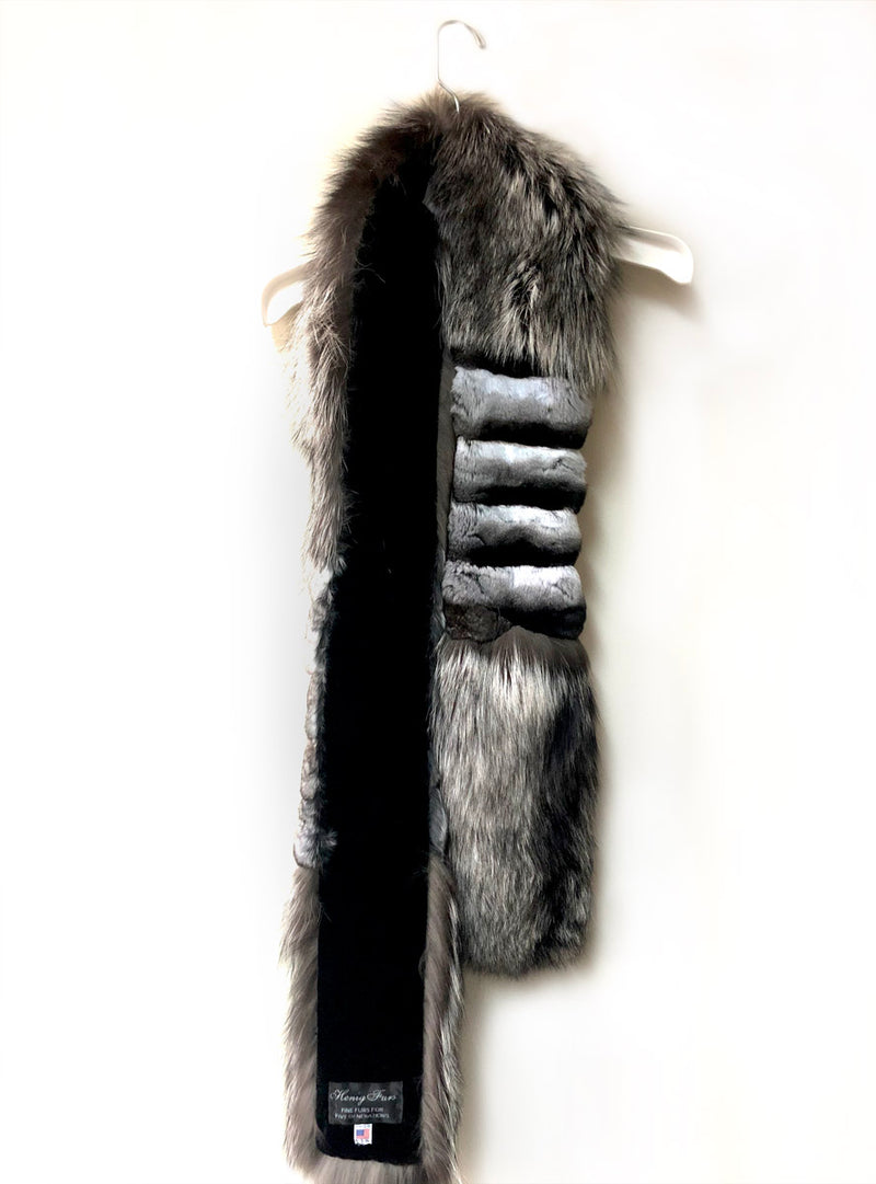 Custom Made Chinchilla Fur & Fox Fur Fling