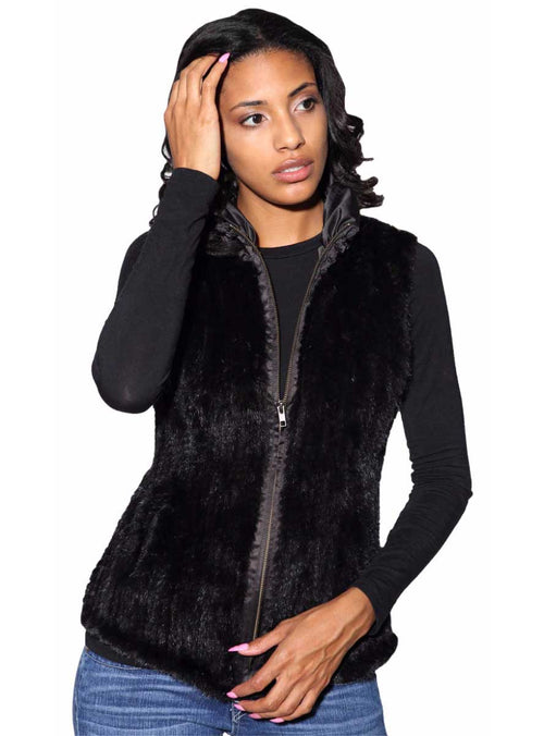 Women's Knitted Mink Fur Vest