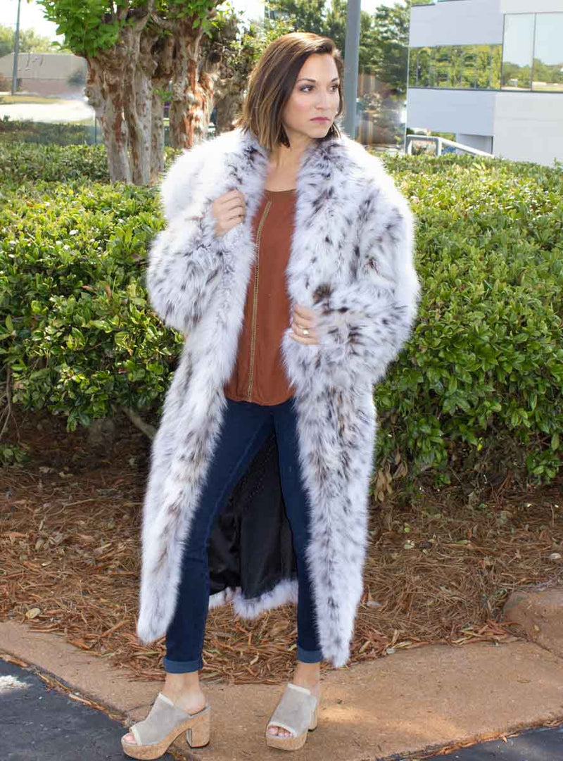 Custom Made Cat Lynx Belly Fur Coat