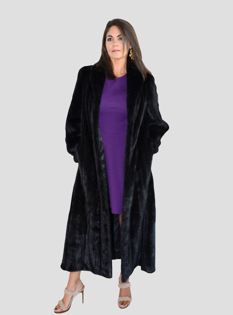 women's mink fur coat