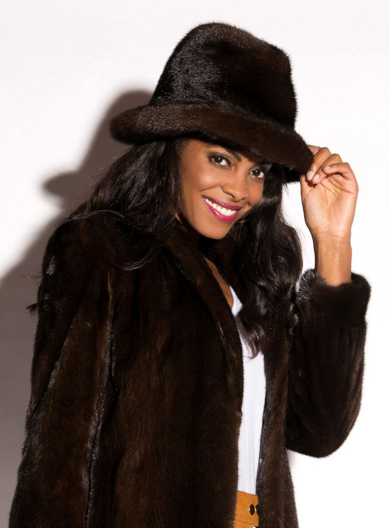 women's mink fur hat