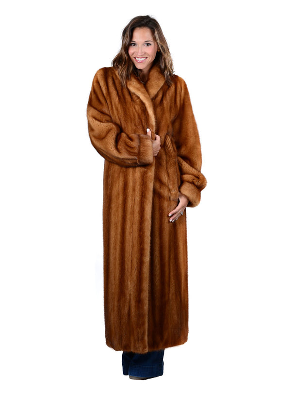 Women's Full Length Mink Fur Coat