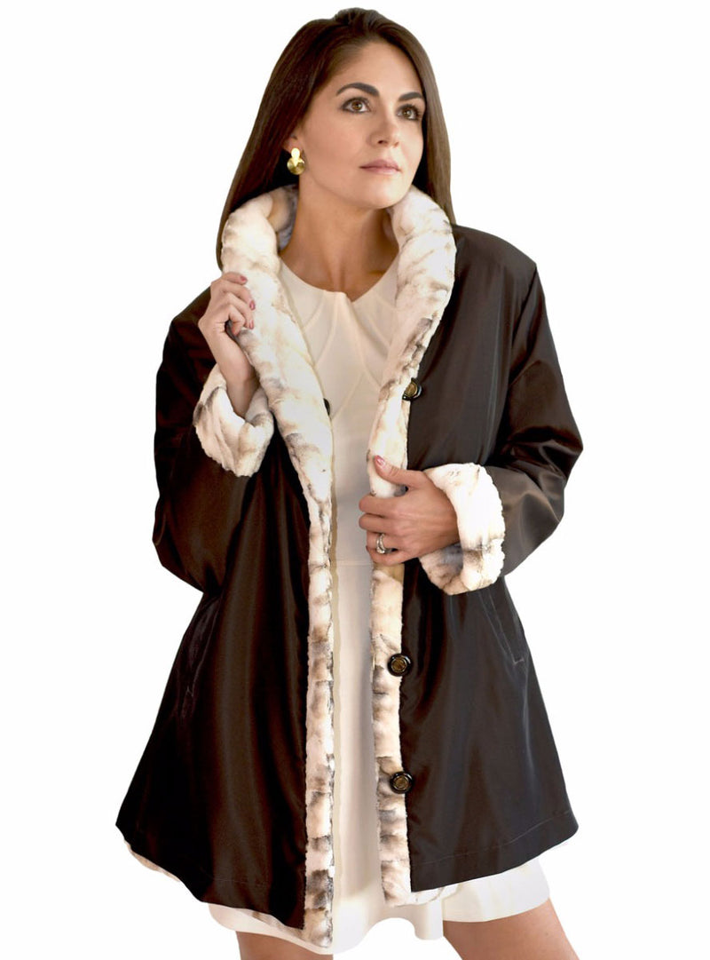 women's mink fur jacket, reversible rain jacket