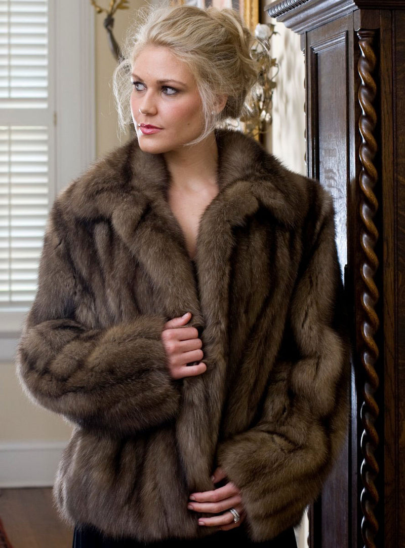 Women's Russian Sable Fur Bolero Jacket