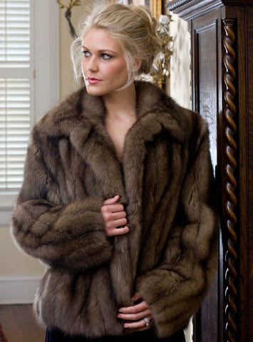 Russian Sable Fur Bolero Jacket