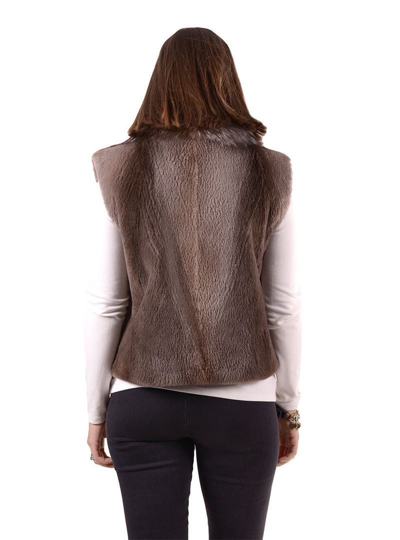 Women's Sheared Beaver Fur Vest