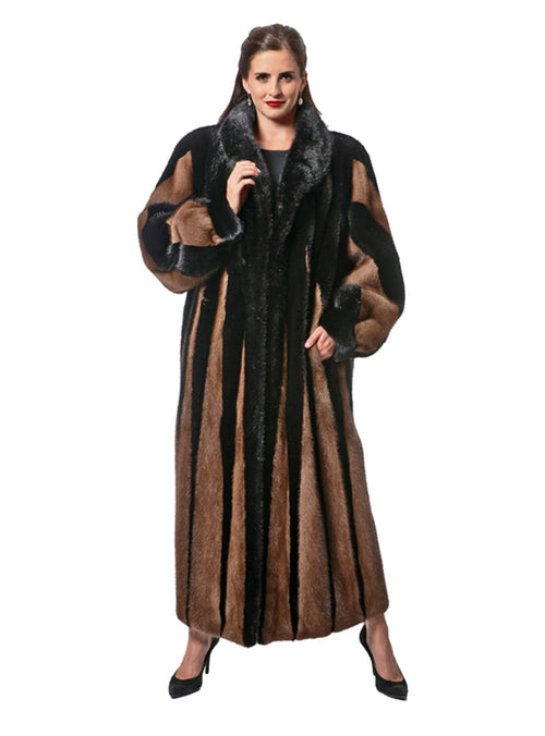 NAFA OR SAGA SELECT Two-Toned Mink Fur Coat