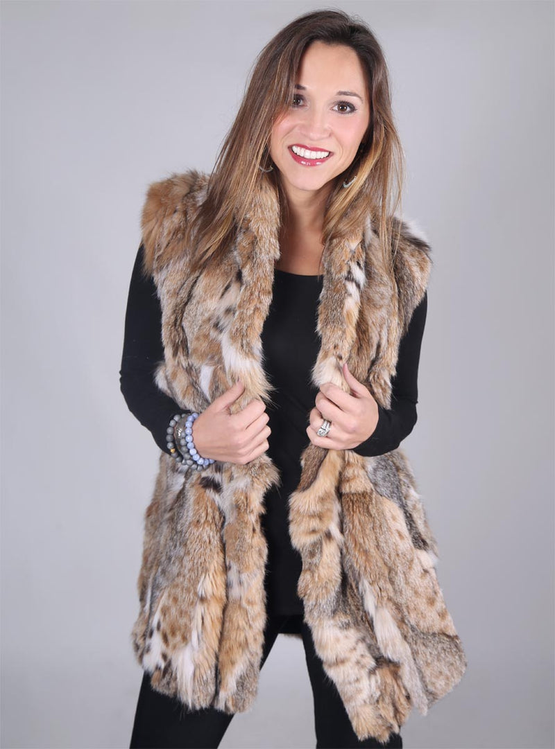 Women's Bobcat Fur Vest