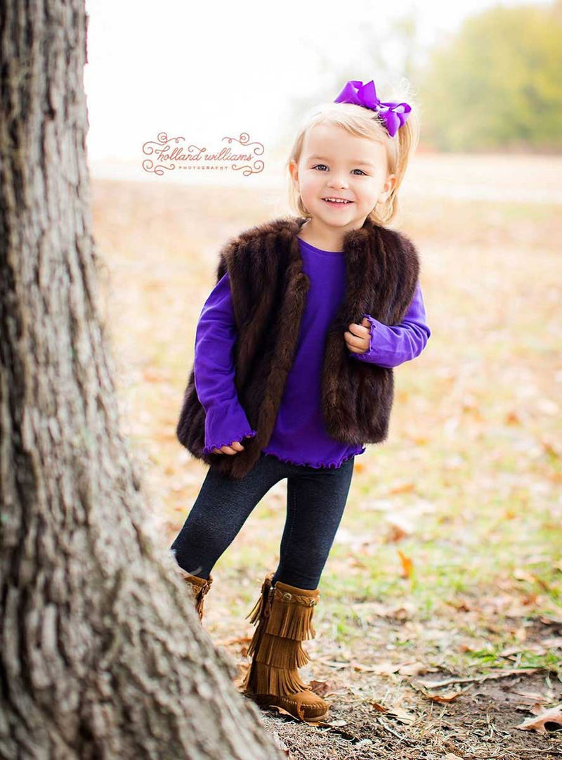 children's mink fur vest