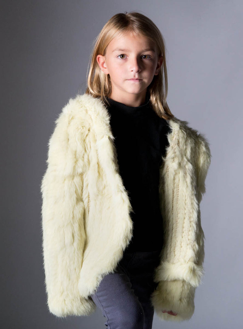 children's rabbit fur jacket
