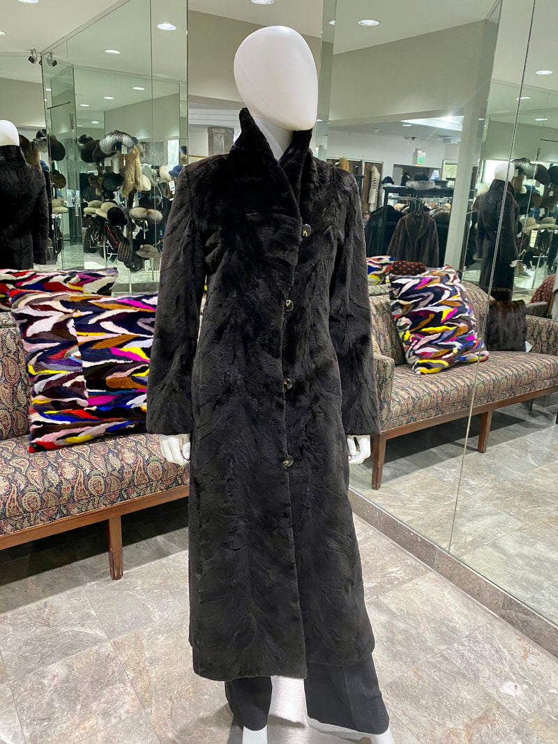 Sheared Mink Coat All-Weather Reversible