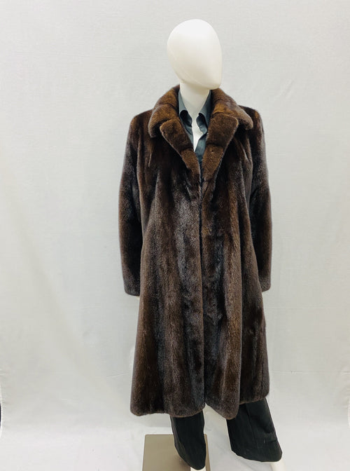American Legend Mink Coat with Notch Collar