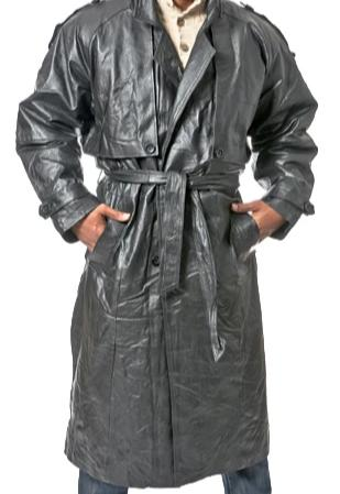 Unisex Full Length Leather Coat
