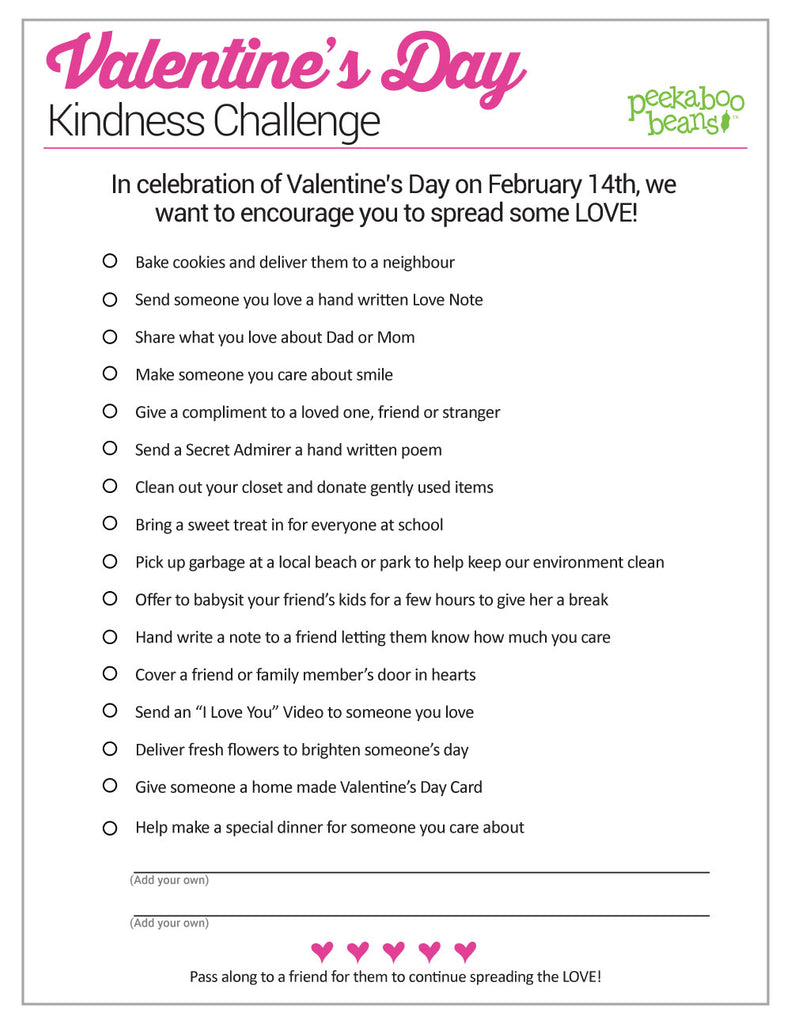 Kindness Challenge Printable