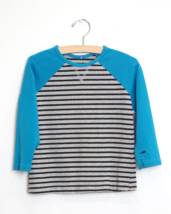 Cool You Tee - Black Stripe/Blue - Size 3
