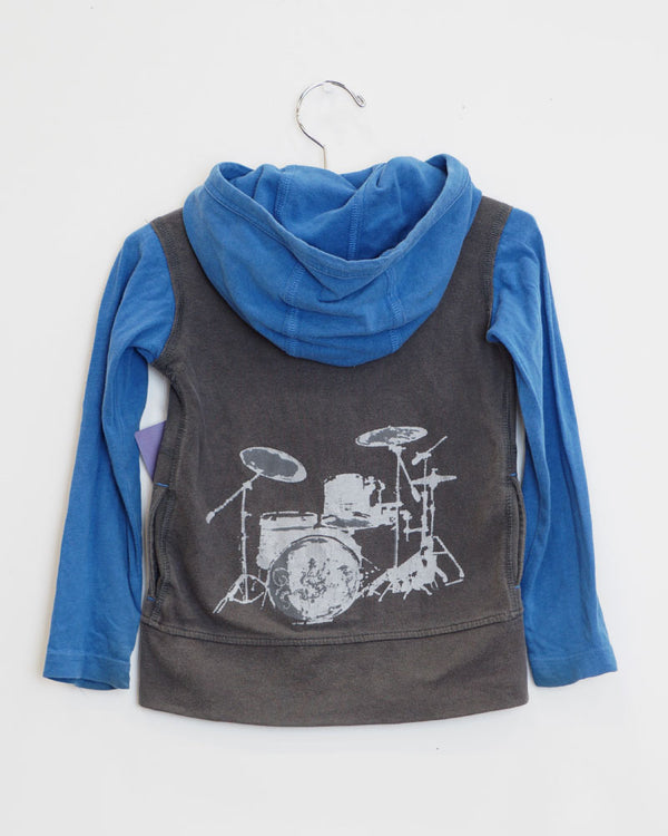 Groovin' Jacket - Charcoal/Blue - Size 2
