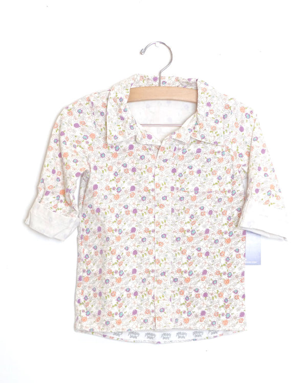 Good To Go Tee - Flower Print - Size 3