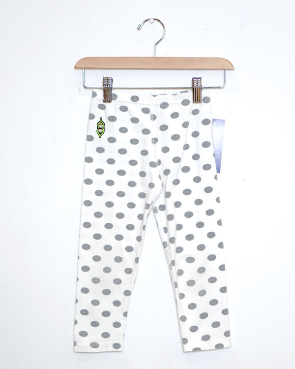 Work Time Leggings - Polka Dot - Size 4
