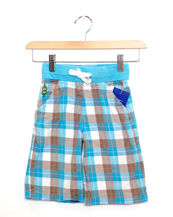 Cruiser Shorts - Blue Plaid - Size 5