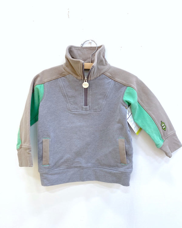 Feel The Heat Jacket - Charcoal/Green - Size 3