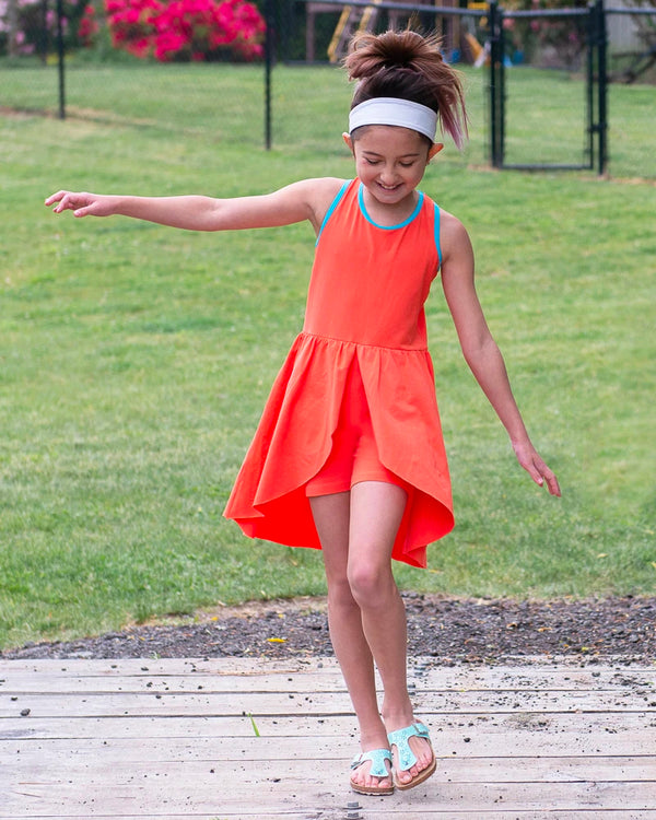 Happy Liv'n Dress - Tangerine
