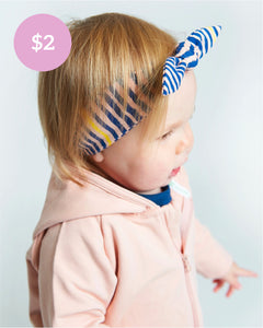 Cutesie Headband - Navy Slinky Stripe