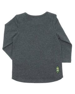 Cuddle Time Tee - Dark Heather Charcoal