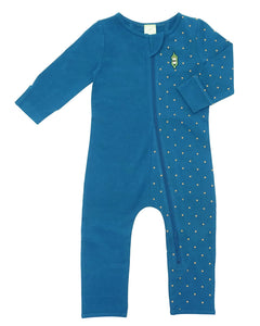 Bean Playsuit - Night Sky Gold Dot
