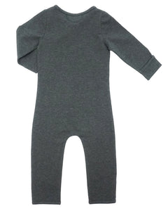 Bean Playsuit - Dark Heather Charcoal