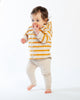 Load image into Gallery viewer, Baby Bean Pants - Heather Oatmeal