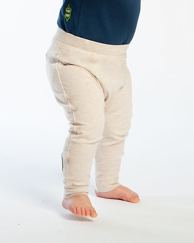 Baby Bean Pants - Heather Oatmeal