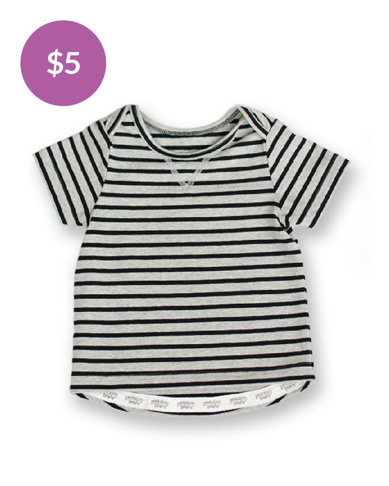 Baby Bean Tee - Black Stripe