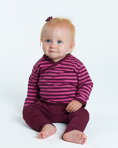 Bean Cross Top - Wild Rose Stripe