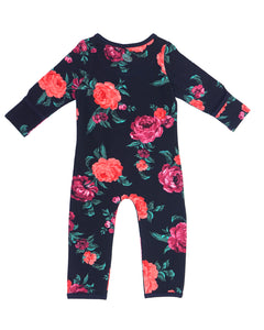 Bean Playsuit - Wild Rose Garden