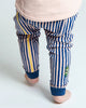 Load image into Gallery viewer, Baby Bean Pants - Navy Slinky Stripe
