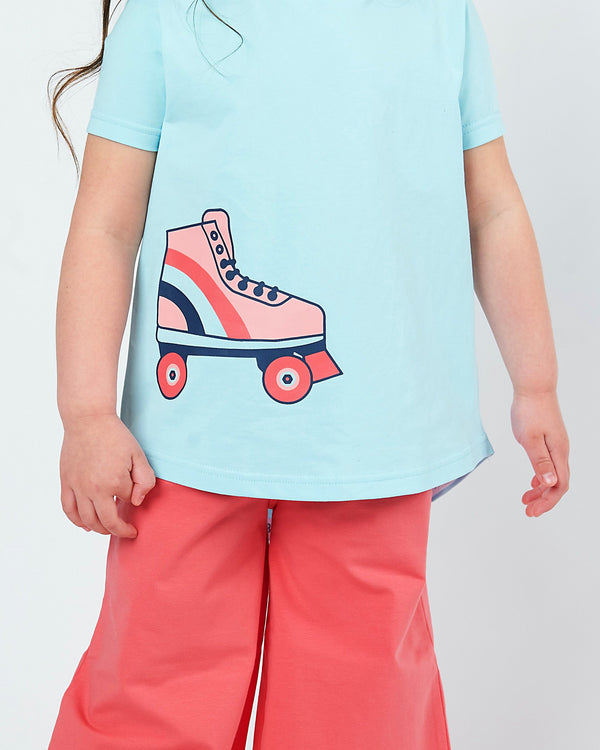 Better Together Tee - Blue Splash Roller Skate