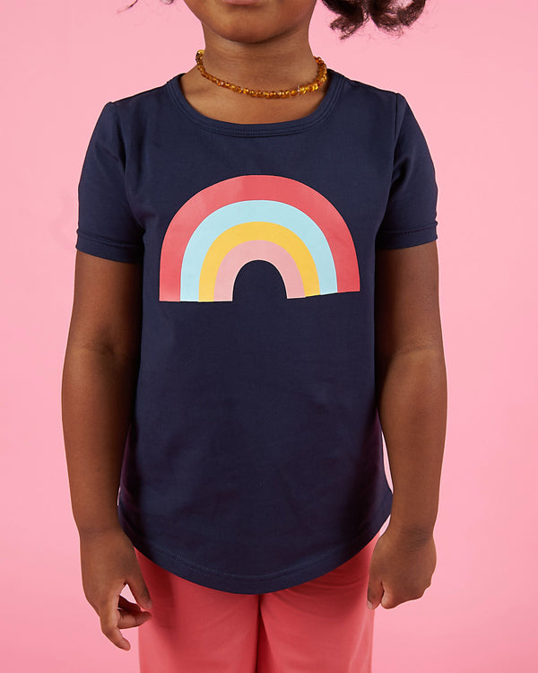 Better Together Tee - Midnight Blue Rainbow