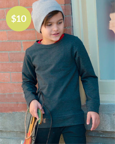 Dapper Dude Pullover - Houndstooth Print