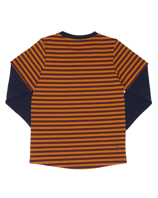 Double Trouble Tee - Spice Stripe