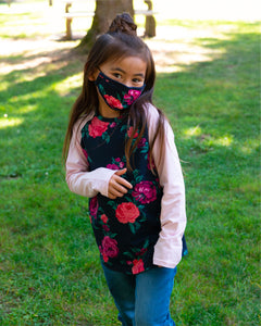 Child Face Mask - Wild Rose Garden