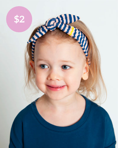 Finishing Touch Headband - Navy Slinky Stripe