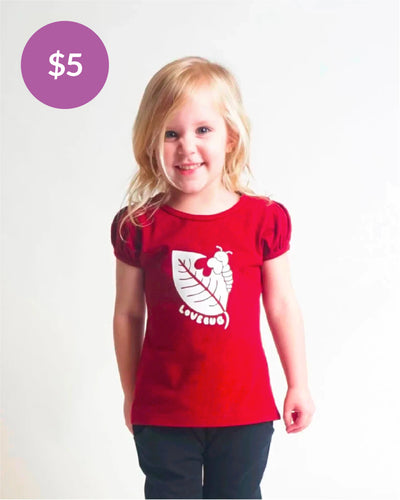 Friendship Tee - Burgundy Lovebug